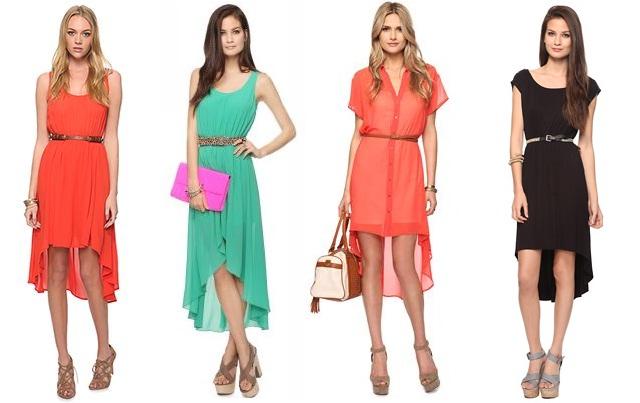 High-low šaty a sukne alebo vpredu krátke 878fdf63e2c