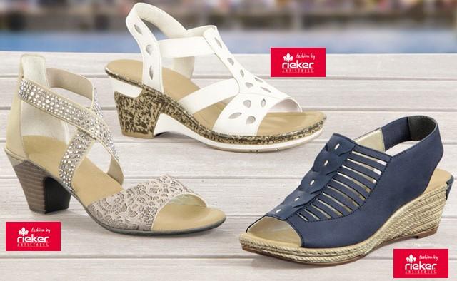 fec006a818a81 Najnovšia ponuka značky Rieker zahŕňa ako dámsku, tak aj pánsku obuv. V  lete sa budú nosiť predovšetkým sandále, a to ako u žien, tak aj u mužov.