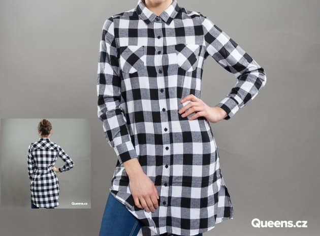 Classics Ladies Checked Flanell Shirt Dress