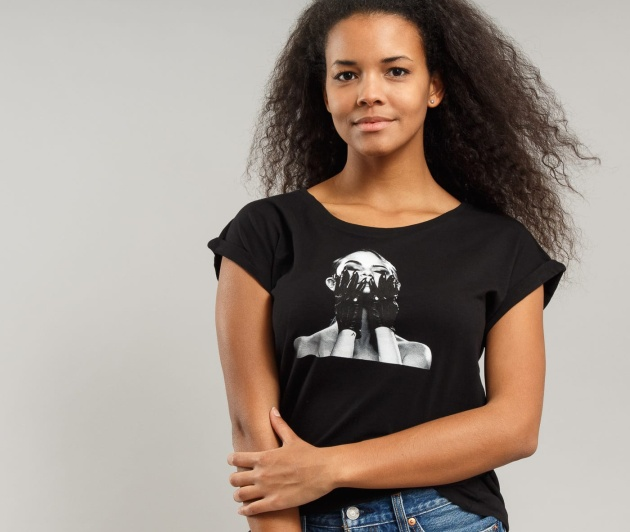 Urban Classics Ladies Selena Gomez Black Gloves Tee