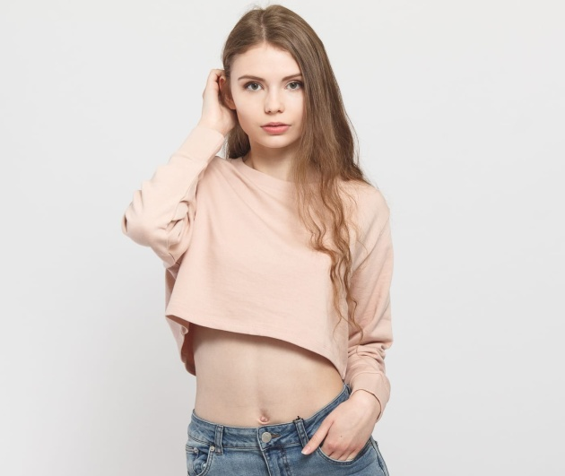 Urban Classics Ladies Terry Cropped Crew