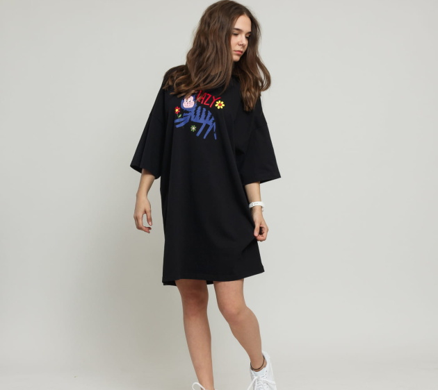 Lazy Cat Oversized Dress